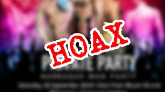 Aleg PKS Tangsel : Pesta Gay Di Serpong hoax
