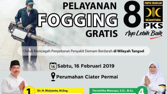 Kasus DBD Tinggi, Caleg PKS Tangerang Selatan Berikan Pelayanan Fogging.