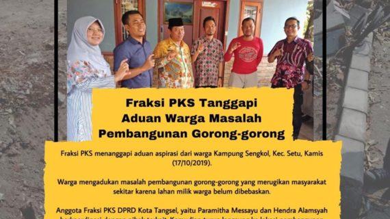 Fraksi PKS Menanggapi Aduan Aspirasi Dari Warga Kampung Sengkol
